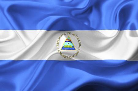 Nicaragua waving flag photo