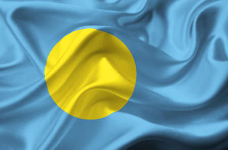 Palau waving flag photo