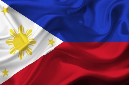 Philippines waving flag photo
