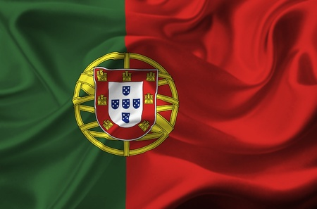 Portugal waving flag Stock Photo - 12416337