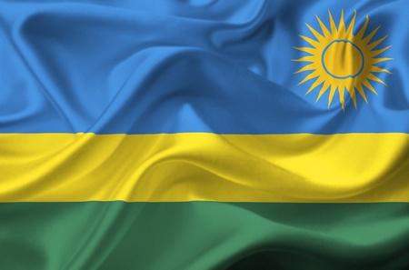rwanda: Rwanda waving flag