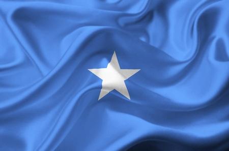 somalia: Somalia waving flag Stock Photo