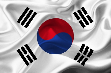 korea: South Korea waving flag Stock Photo