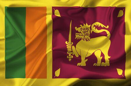 lanka: Sri Lanka waving flag Stock Photo