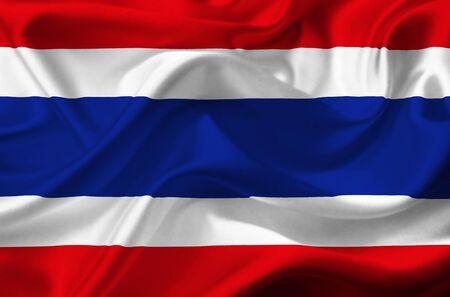 Thailand waving flag Stock Photo - 12415819