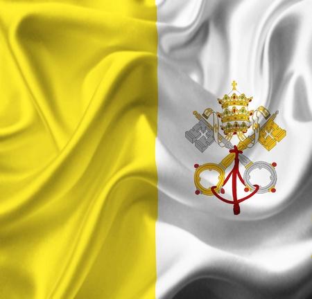 vatican city: Vatican City waving flag