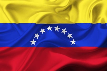venezuela: Venezuela waving flag Stock Photo