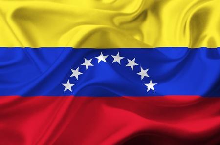 venezuela: Venezuela waving flag Stock Photo