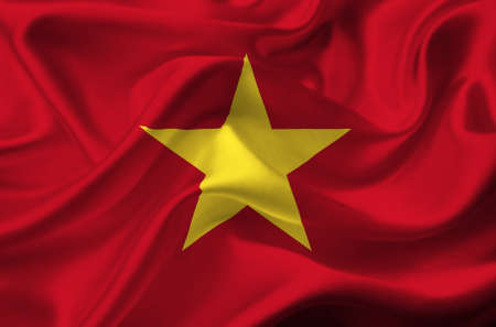 Vietnam waving flag Stock Photo - 12415768