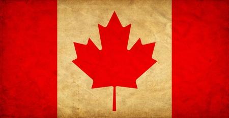 canadian: Canada grunge flag