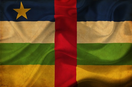 Central African Republic waving flag photo