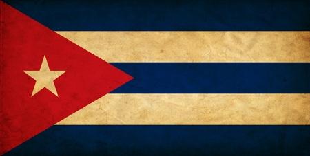 bandera cuba: Cuba grunge bandera Foto de archivo