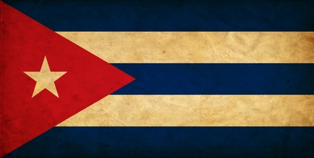 Cuba grunge flag photo
