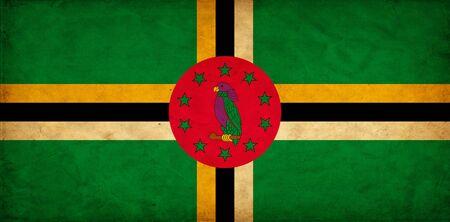dominica: Dominica grunge flag
