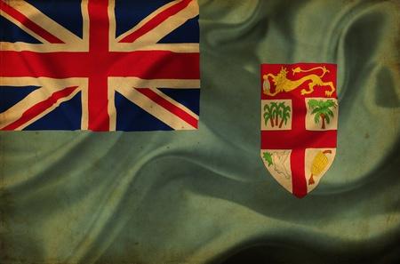 fiji: Fiji waving flag