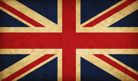 연합 왕국: 영국 그런 지 플래그 스톡 사진