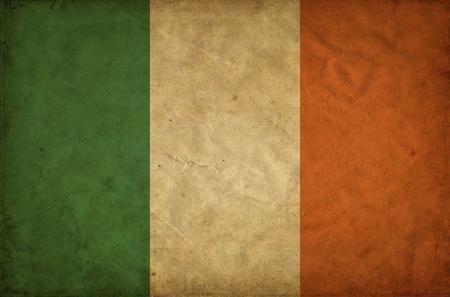 Ireland grunge flag photo