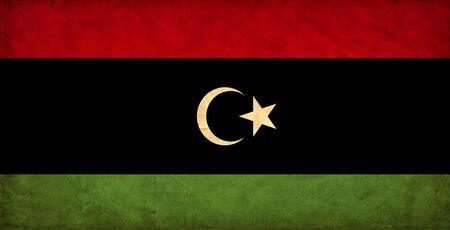 Libya grunge flag photo