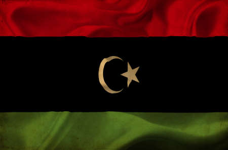 Libya waving flag photo