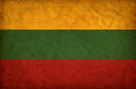 Lithuania grunge flag photo
