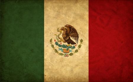 bandera mexicana: M�xico grunge bandera Foto de archivo