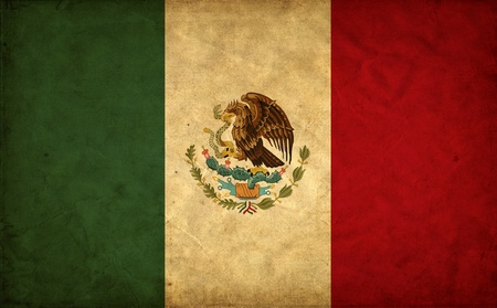 Mexico grunge flag photo