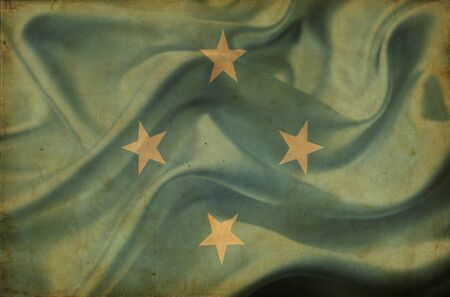 micronesia: 미크로네시아 깃발을 흔들며