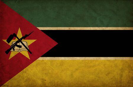 Mozambique: Mozambique grunge flag Stock Photo