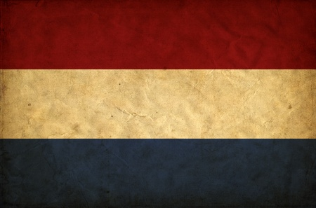 Netherlands grunge flag photo
