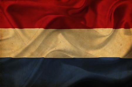 Netherlands waving flag photo