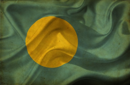 Palau waving flag Stock Photo - 12646681