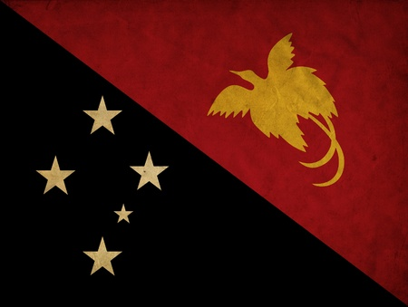 Papua New Guinea grunge flag Stock Photo - 12646350