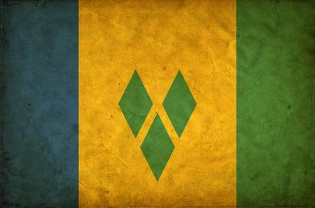 grenadines: Saint Vincent and the Grenadines grunge flag Stock Photo