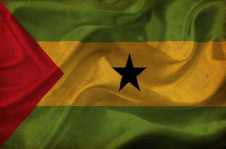 principe: Sao Tome and Principe bandera ondeando