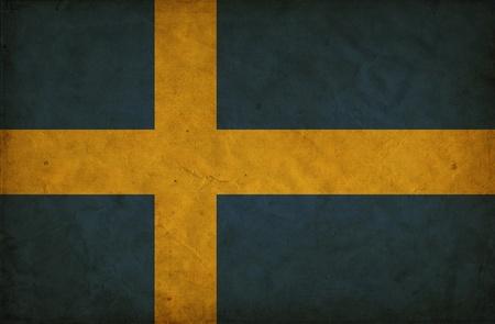 Sweden grunge flag photo