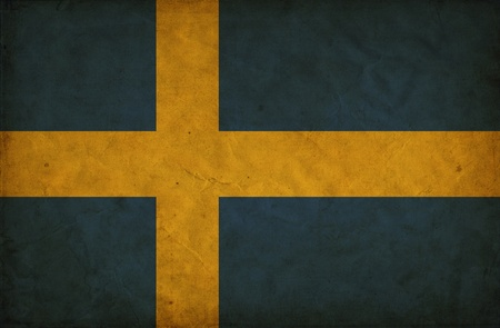 Sweden grunge flag photo
