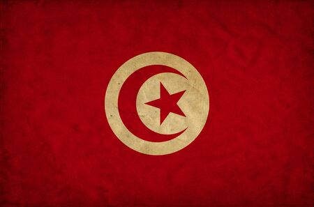 Tunisia grunge flag photo