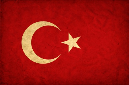 Turkey grunge flag photo