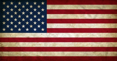 United States of America grunge flag Stock Photo