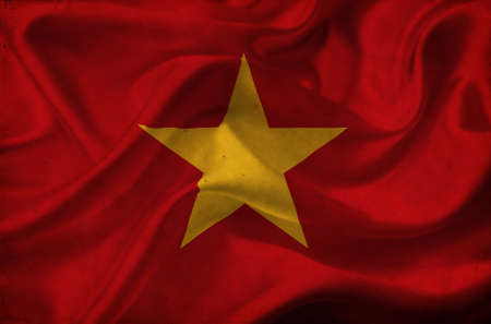 Vietnam waving flag Stock Photo - 12647140