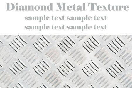 nickel panel: Diamond metal texture