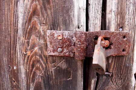 Rusty padlock photo