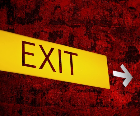 Retro EXIT sign background photo