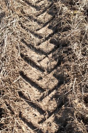 Tractor trail closeup photo