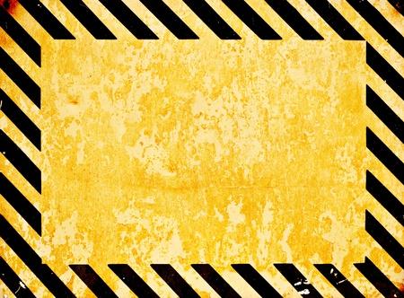 hazardous metals: Grunge warning background Stock Photo