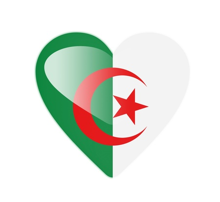 Algeria 3D heart shaped flag photo