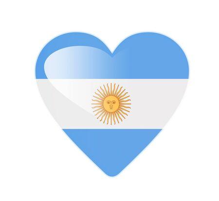 Argentina 3D heart shaped flag photo