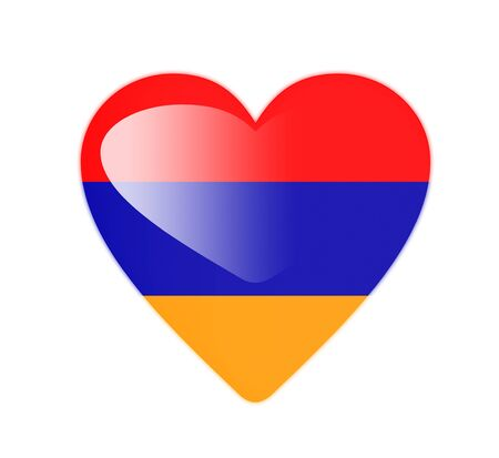 Armenia 3D heart shaped flag photo