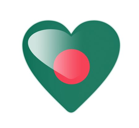 Bangladesh 3D heart shaped flag photo