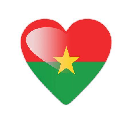 burkina faso: Burkina Faso 3D heart shaped flag Stock Photo